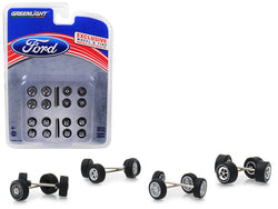 "Wheel and Tire Multipack (Set of 24 pieces) ""Ford"" Hobby Exclusive 1/64 by Greenlight"