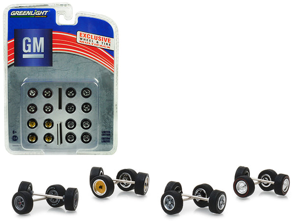 "Wheel and Tire Multipack (Set of 24 pieces) ""General Motors"" Hobby Exclusive 1/64 by Greenlight"