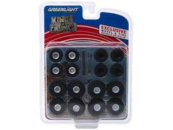 "Monster Trucks Wheel and Tire Multipack ""Kings of Crunch"" (24 Piece Set) 1/64 by Greenlight"