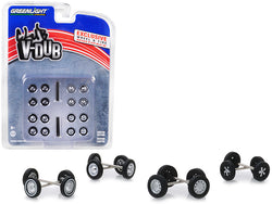 "Volkswagen Wheel and Tire Multipack ""Club Vee-Dub"" (24 Piece Set) for 1/64 models by Greenlight"