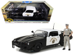 1979 Chevrolet Camaro Z/28 California Highway Patrol Hardtop (CHP) with Police Officer Figure 1/18 Diecast Model Car by Greenlight