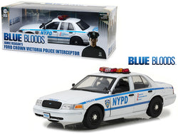 "Jamie Reagan's 2001 Ford Crown Victoria Police Interceptor NYPD from ""Blue Bloods"" 2010 TV Series 1/18 Diecast Car Model by Greenlight"