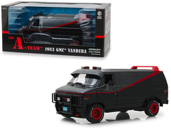 "1983 GMC Vandura Black ""The A-Team"" (1983-1987) TV Series 1/18 Diecast Model by Greenlight"