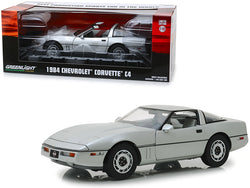 "1984 Chevrolet Corvette C4 Convertible Silver ""Best Production Sports Car in the World"" Vintage Ad Cars 1/18 Diecast Model Car by Greenlight"