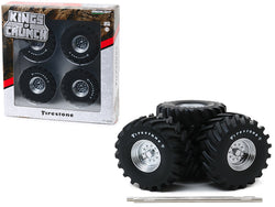 "48-Inch Monster Truck ""Firestone"" Wheels & Tires (6 Piece Set) ""Kings of Crunch"" 1/18 Diecast Models by Greenlight"