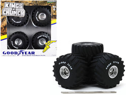 "66-Inch Monster Truck ""Goodyear"" Wheels and Tires (6 Piece Set) ""Kings of Crunch"" 1/18 by Greenlight"