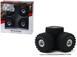 "66-Inch Monster Truck ""Firestone"" Wheels and Tires (6 Piece Set) ""Kings of Crunch"" 1/18 by Greenlight"