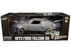 "1973 Ford Falcon XB RHD (Right Hand Drive) (Weathered Version) ""Last of the V8 Interceptors"" (1979) Movie 1/18 Diecast Model Car by Greenlight"