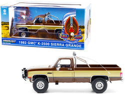 "1982 GMC K-2500 Sierra Grande Pickup Truck Brown with Gold Sides ""Fall Guy Stuntman Association"" ""The Fall Guy"" (1981-1986) TV Series 1/18 Diecast Model by Greenlight"