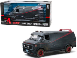 "1983 GMC Vandura Black Weathered Version with Bullet Holes ""The A-Team"" (1983-1987) TV Series 1/18 Diecast Model by Greenlight"