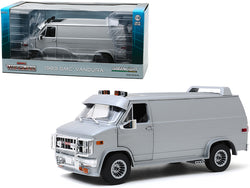 1983 GMC Vandura Van Custom Silver Metallic 1/18 Diecast Model by Greenlight