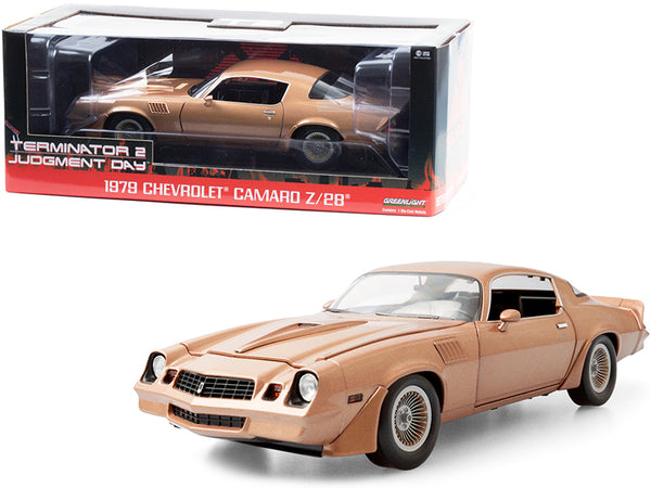 "1979 Chevrolet Camaro Z/28 Gold ""Terminator 2: Judgment Day"" (1991) Movie 1/18 Diecast Model Car by Greenlight"