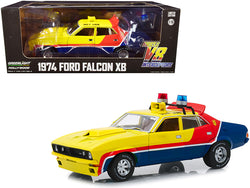 "1974 Ford Falcon XB 4-Door Sedan RHD (Right Hand Drive) ""MFP 508"" ""First of the V8 Interceptors""(1979) Movie 1/18 Diecast Model Car by Greenlight"