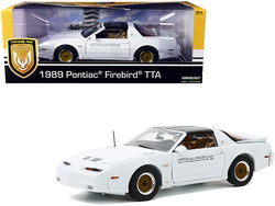 "1989 Pontiac Firebird Turbo Trans Am TTA Official Pace Car White ""73rd Indianapolis 500"" ""Trans Am 20th Anniversary"" 1/18 Diecast Model Car by Greenlight"