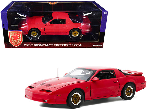 1988 Pontiac Firebird Trans Am Gran Turismo Americano (GTA) Bright Red 1/18 Diecast Model Car by Greenlight