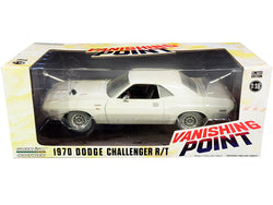 "1970 Dodge Challenger R/T White (Weathered Version) ""Vanishing Point"" (1971) Movie 1/18 Diecast Model Car by Greenlight"