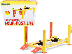"Adjustable Four Post Lift ""Shell Oil"" #2 for 1/18 Scale Diecast Models by Greenlight"