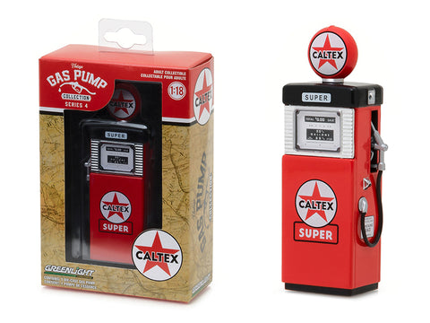 "1951 Wayne 505 ""Caltex Super"" Vintage Gas Pump Replica Series #4 1/18 Diecast Model by Greenlight"