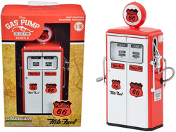 "1954 Tokheim 350 Twin Gas Pump ""Phillips 66 Flite-Fuel"" Red and White ""Vintage Gas Pumps"" Series #8 1/18 Diecast Model by Greenlight"