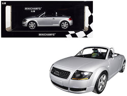 1999 Audi TT Roadster Silver Limited Edition to 300 pieces Worldwide 1/18 Diecast Model Car by Minichamps