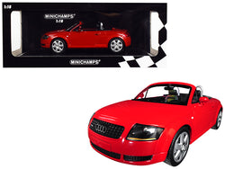 1999 Audi TT Roadster Red Limited Edition to 300 pieces Worldwide 1/18 Diecast Model Car by Minichamps