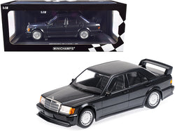 1989 Mercedes Benz 190E 2.5-16 EVO 1 Blue-Black Metallic Limited Edition to 1,002 pieces Worldwide 1/18 Diecast Model Car by Minichamps