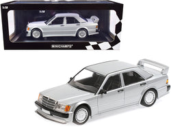 1989 Mercedes Benz 190E 2.5-16 EVO 1 Silver Metallic Limited Edition to 804 pieces Worldwide 1/18 Diecast Model Car by Minichamps