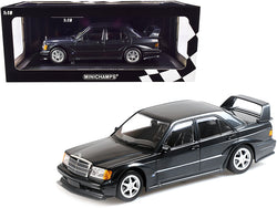 1990 Mercedes Benz 190E 2.5-16 EVO 2 Blue-Black Metallic Limited Edition to 1,002 pieces Worldwide 1/18 Diecast Model Car by Minichamps