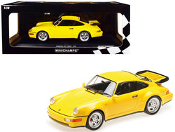1990 Porsche 911 Turbo Yellow Limited Edition to 600 pieces Worldwide 1/18 Diecast Model Car by Minichamps