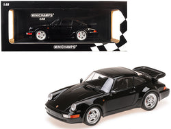 1990 Porsche 911 Turbo Black Limited Edition to 504 pieces Worldwide 1/18 Diecast Model Car by Minichamps