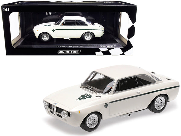 1971 Alfa Romeo GTA 1300 Junior White Limited Edition to 330 pieces Worldwide 1/18 Diecast Model Car by Minichamps