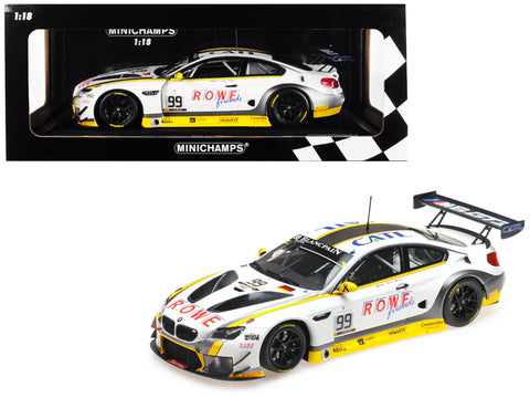 BMW M6 GT3 #99 Martin / Eng / Sims Winners 24 Hours SPA 2016 (Rowe Racing) Limited Edition to 400 pieces Worldwide 1/18 Diecast Model Car by Minichamps