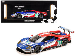 "Ford GT #68 Sebastien Bourdais/Joey Hand/Dirk Muller Winners LMGTE PRO Le Mans 24 Hours (2016) ""Ford Chip Ganassi Racing USA"" Limited Edition to 1002 pieces Worldwide 1/18 Diecast Model Car by Minichamps"