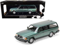 1986 Volvo 240 GL Break Green Metallic Limited Edition to 600 pieces Worldwide 1/18 Diecast Model Car by Minichamps