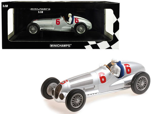 Mercedes Benz W125 (Daimler-Benz AG) #6 Rudolf Caracciola 2nd Place Eifelrennen Nurburgring (1937) Limited Edition to 402 pieces Worldwide 1/18 Diecast Model Car by Minichamps