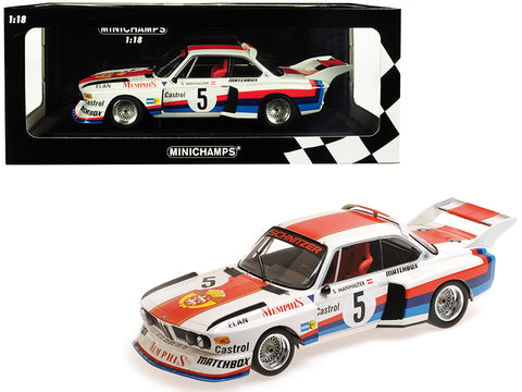 BMW 3.5 CSL #5 Sepp Manhalter Winner Havirov International (1977) Limited Edition to 414 pieces Worldwide 1/18 Diecast Model Car by Minichamps