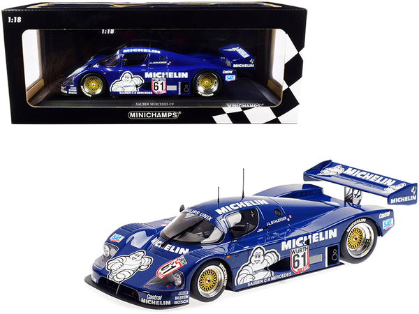 "Sauber Mercedes C9 #61 Jean-Louis Schlesser ""Michelin"" Winner ADAC Supersprint (1987) Limited Edition to 504 pieces Worldwide 1/18 Diecast Model Car by Minichamps"