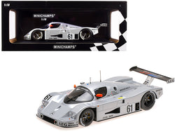 Sauber Mercedes C9 #61 M. Baldi - K. Acheson - G. Brancatelli 2nd Place 24 Hours of Le Mans (1989) Limited Edition to 402 pieces Worldwide 1/18 Diecast Model Car by Minichamps