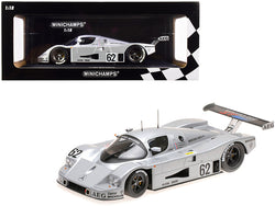 Sauber Mercedes C9 #62 J.L. Schlesser - J.P. Jabouille - A. Cudini 5th Place 24 Hours of Le Mans (1989) Limited Edition to 402 pieces Worldwide 1/18 Diecast Model Car by Minichamps