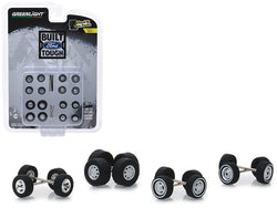 """Built Ford Tough"" Wheel and Tire Multipack (Set of 24) Series #1 1/64 by Greenlight"