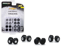 """Chevrolet Trucks"" Wheels and Tires Multipack (24 Piece Set) ""Wheel & Tire Packs"" Series #2 for 1/64 models by Greenlight"