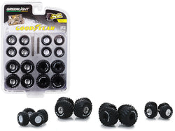 """Goodyear"" Wheels and Tires Multipack ""Kings of Crunch"" (24 Piece Set) ""Wheel & Tire Packs"" Series #2 for 1/64 models by Greenlight"