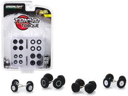 """Tokyo Torque"" Wheels and Tires Multipack (24 Piece Set) ""Wheel & Tire Packs"" Series #2 for 1/64 models by Greenlight"