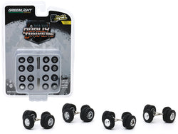 """Dually Drivers"" Wheels and Tires Multipack (24 Piece Set) ""Wheel & Tire Packs"" Series #3 1/64 by Greenlight"