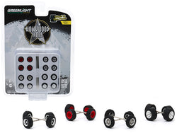 """Hollywood Icons"" Wheels and Tires Multipack (24 Piece Set) ""Wheel & Tire Packs"" Series #3 1/64 by Greenlight"