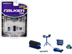 """Falken Tires"" (6 Piece Shop Tools Set) ""Shop Tool Accessories"" Series #3 for 1/64 scale models by Greenlight"