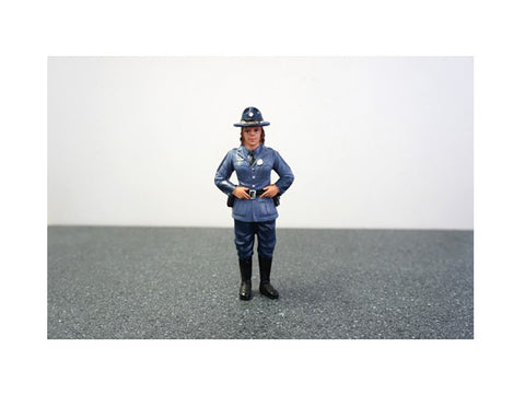 State Trooper Sharon Figure For 1:18 Diecast Models by American Diorama