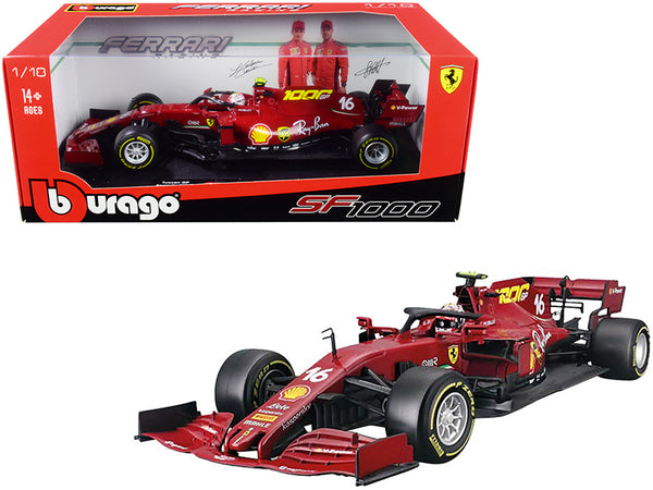 "Ferrari SF1000 #16 Charles Leclerc Tuscan GP Formula One F1 (2020) ""Ferrari's 1000th Race"" 1/18 Diecast Model Car by Bburago"