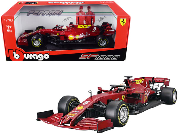 "Ferrari SF1000 #5 Sebastian Vettel Tuscan GP Formula One F1 (2020) ""Ferrari's 1000th Race"" 1/18 Diecast Model Car by Bburago"
