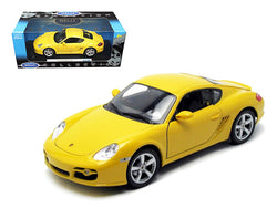 Porsche Cayman S Yellow 1/18 Diecast Model Car by Welly
